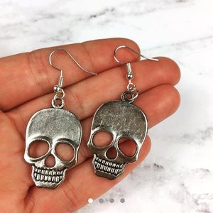 3/$15 Large Skull Dangle Earrings